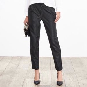 Banana Republic Pleated Faux Leather Pants size 6